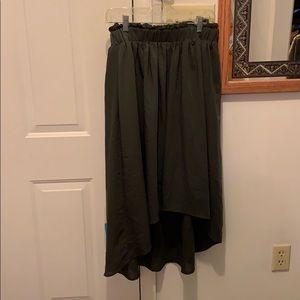 Mossimo high low long skirt